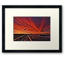 """Sunrise over the """" Bakken """"  Framed Print"""