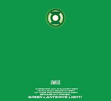 Green Lantern iPhone cover by LXXV Art