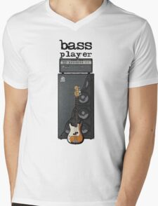 Bass Player Mens V-Neck T-Shirt