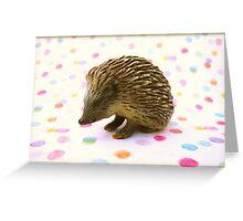 Hedgehog Polka Dots Greeting Card