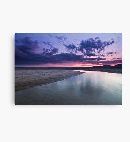 Vibrant Morning Beach Canvas Print