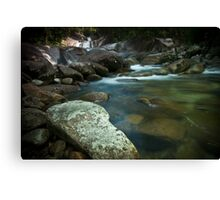Rocks By The Creek Canvas Print