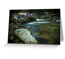 Rocks By The Creek Greeting Card