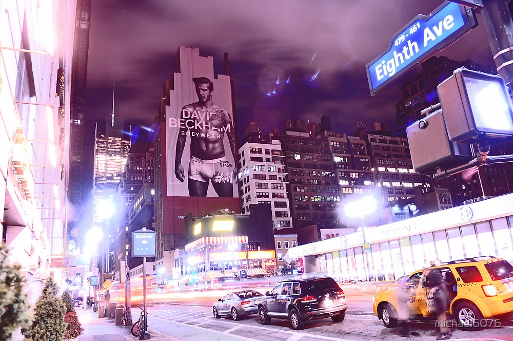 David Beckham on 8th Avenue - New York City by michael6076