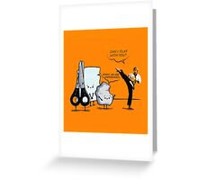 Stone, paper and scissor Greeting Card