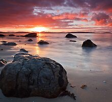 Taroona Beach Sunrise #9 by Chris Cobern