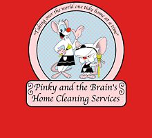 Pinky and the Brain Home Cleaning Womens Fitted T-Shirt