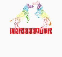 Zebras Undefeated Rainbow Womens Fitted T-Shirt