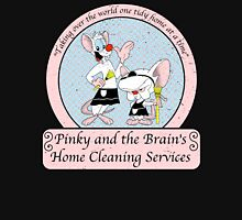 Pinky and the Brain Home Cleaning Distressed Unisex T-Shirt
