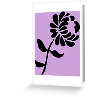 Leaning Flower on Pink Greeting Card