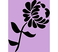 Leaning Flower on Pink Photographic Print