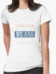 Harry Potter quote Womens Fitted T-Shirt