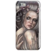 Danse Macabre - Gothic Woman with Skeletons iPhone Case/Skin