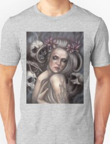 Danse Macabre - Gothic Woman with Skeletons T-Shirt