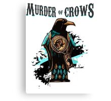 Murder of Crows Vigor Canvas Print