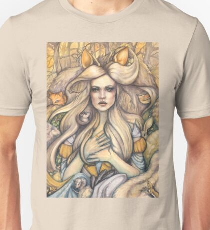 Thousandfurs - Fairy Tale Princess with Woodland Critters Unisex T-Shirt