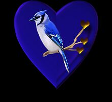 ".♥➷♥•*BLUE JAY ""MY HEART BEATS FOR U"" .♥➷♥•* by ╰⊰✿ℒᵒᶹᵉ Bonita✿⊱╮ Lalonde✿⊱╮"