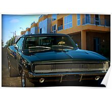 "1968 Dodge Charger ""Bullit Replica"" Poster"