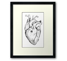 Distrusting heart Framed Print