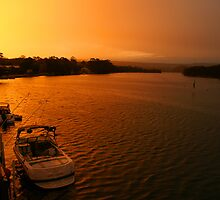 Lake Conjola Sunset by Ross Campbell