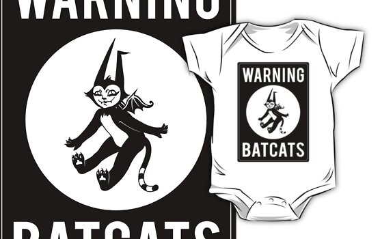Warning Batcats by blacklilypie