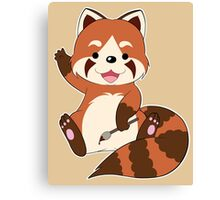 Doodle the Red Panda Canvas Print