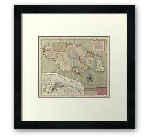Map of Jamaica (1771) Framed Print