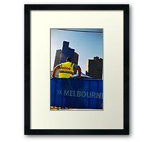 Police, Melbourne Framed Print