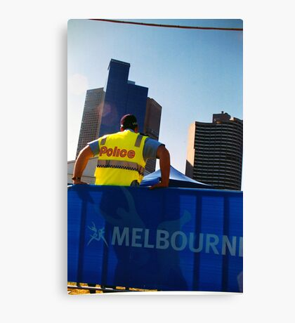 Police, Melbourne Canvas Print