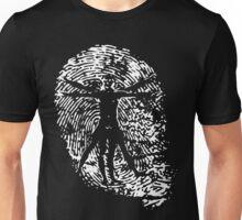 Vitruvian Man Fingerprint (Dark) Unisex T-Shirt