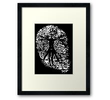 Vitruvian Man Fingerprint (Dark) Framed Print
