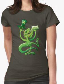 Saint Patrick's Day Iguana Womens Fitted T-Shirt