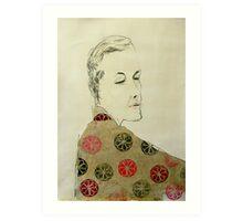 clare in kimono Art Print