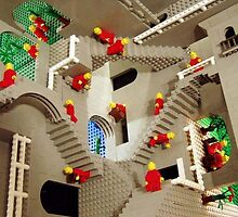 Lego stairway to Escher by NiN-JazZ