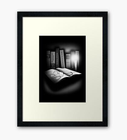 Still Life with Books Framed Print