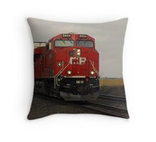CP 8954..I'm going off the rails on a crazy train Throw Pillow