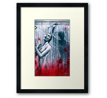 Shower Slasher Framed Print