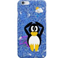 Penguin in the Rain iPhone Case iPhone Case/Skin
