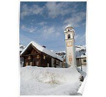 bosco gurin in snow 2 Poster