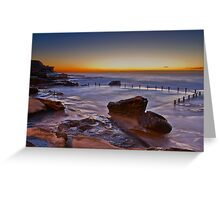 Mahon Pool Sunrise - Maroubra - NSW - Australia Greeting Card