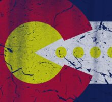 Retro 80s Video Gamer Flag of Colorado Sticker