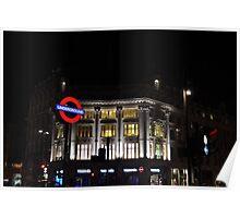 Oxford Circus Underground Poster