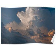 Magnificent cloudscape seen at Seminyak Beach in Bali, Indonesia Poster
