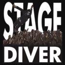 Stage Diver White by Alternative Art Steve