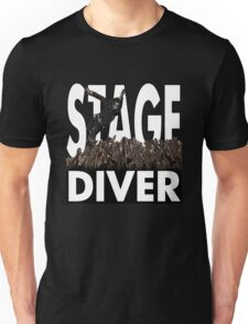 Stage Diver White Unisex T-Shirt