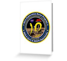 Mars Exploration Rover Mission (MER) @! 10 Greeting Card