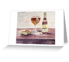 Leffe Blonde Greeting Card