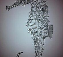 Paisley Sea Horse by Joshua  Whitehead