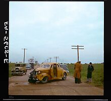 Automobile Accident on the U.S. 40, 1936 by Dana Keller