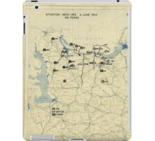 June 6 1944 D-Day World War II Twelfth Army Group Situation Map iPad Case/Skin